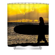 Surfer Dude Shower Curtain by Juli Scalzi