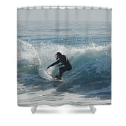 Surfing In The Sun Shower Curtain by Donna Blackhall