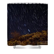Surprise Trailhead Startrails Shower Curtain by Benjamin Reed