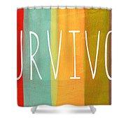 Survivor Shower Curtain by Linda Woods
