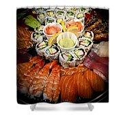 Sushi Tray Shower Curtain by Elena Elisseeva