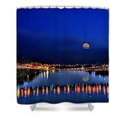 Suspension Bridge Shower Curtain by Dan Friend
