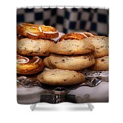 Sweet - Cookies - Cookies And Danish Shower Curtain by Mike Savad