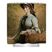 Sweet Emma Morland Shower Curtain by Sir John Everett Millais
