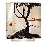 Sweet Surprise Shower Curtain by Heather Applegate