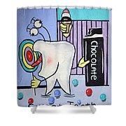 Sweet Tooth Shower Curtain by Anthony Falbo