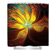 Swept Away Shower Curtain by Amanda Moore