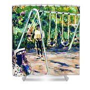 Swings Shower Curtain by Faye Cummings