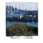 Sydney Harbour Shower Curtain by Steven Ralser