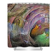Synchronizing Times Shower Curtain by Betsy C  Knapp