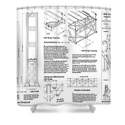 Tacoma Narrows Bridge Habs P2 Shower Curtain by Photo Researchers