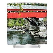 Taftsville Covered Bridge Vermont Shower Curtain by Edward Fielding