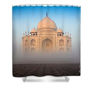 Taj Mahal In The Mist Shower Curtain by Inge Johnsson