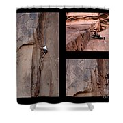 Take Action No Caption Shower Curtain by Bob Christopher