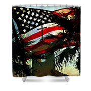 Take Back America Shower Curtain by Beverly Guilliams
