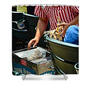 Take Me Out To The Ball Game Shower Curtain by Frozen in Time Fine Art Photography