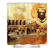 Takhat Bahi Unesco World Heritage Site Shower Curtain by Catf