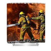 Taking A Stand Shower Curtain by Bob Christopher