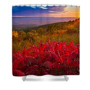 Talimena Evening Shower Curtain by Inge Johnsson