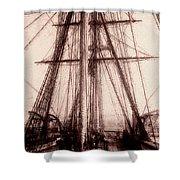 Tall Ship Shower Curtain by Jack Zulli