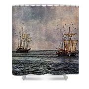 Tall Ships Shower Curtain by Dale Kincaid