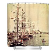 Tall Ships Shower Curtain by Joel Witmeyer
