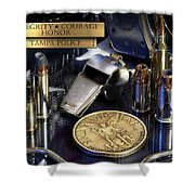 Tampa Police St Michael Shower Curtain by Gary Yost