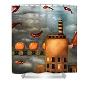 Tangerine Dream Edit 2 Shower Curtain by Leah Saulnier The Painting Maniac