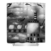 Tangerine Dream Edit 3 Shower Curtain by Leah Saulnier The Painting Maniac