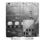 Tangerine Dream Edit 4 Shower Curtain by Leah Saulnier The Painting Maniac