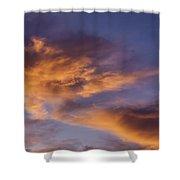 Tangerine Swirl Shower Curtain by Caitlyn  Grasso