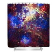 Tarantula Nebula 2 Shower Curtain by The  Vault - Jennifer Rondinelli Reilly