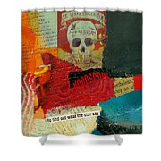 Tarot Card Abstract Shower Curtain by Corporate Art Task Force