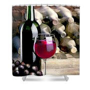Tasting Time Shower Curtain by Elaine Plesser