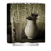 Tattered Shower Curtain by Amy Weiss