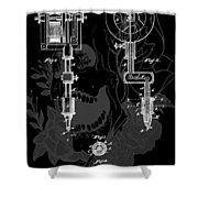 Tattoo Gun Patent Shower Curtain by Dan Sproul