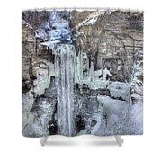 Taughannock Falls Shower Curtain by Lori Deiter