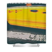 Taxi Taxi Shower Curtain by Karol Livote