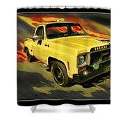 Taxicab Repair 1974 gmc Shower Curtain by Blake Richards