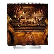 Taxidermy - Home Of The Three Bears Shower Curtain by Mike Savad