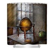 Teacher - Around The World Shower Curtain by Mike Savad