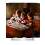 Teacher - Classroom - Education Can Be Fun  Shower Curtain by Mike Savad