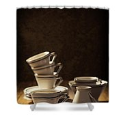 Teacups Shower Curtain by Amanda And Christopher Elwell