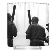 Teammates Shower Curtain by Joann Vitali