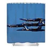 Teamwork Shower Curtain by Adam Romanowicz