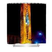 Tear Drop At Night Shower Curtain by Nick Zelinsky