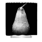 Tears Of A Sad Pear In Silver Shower Curtain by Andee Design