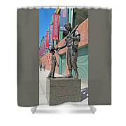Ted Williams Statue Shower Curtain by Barbara McDevitt