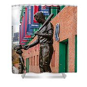 Teddy Ballgame Shower Curtain by Mike Ste Marie