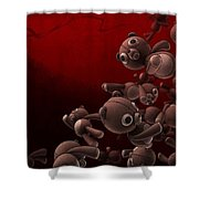 Teddy Bears Crowd Shower Curtain by Gianfranco Weiss